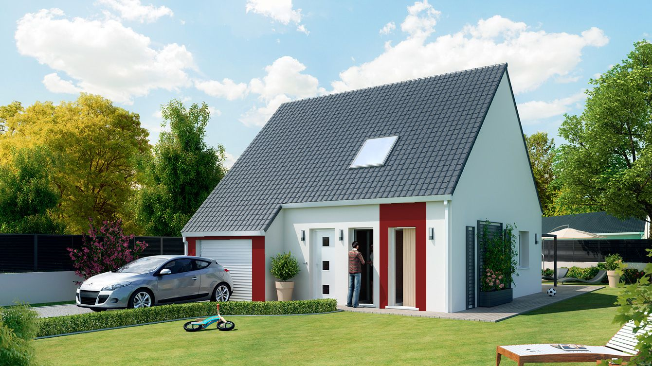 Maison focus 85 modele low cost tage 100 bbc rt2012 for Faire construire maison pas cher