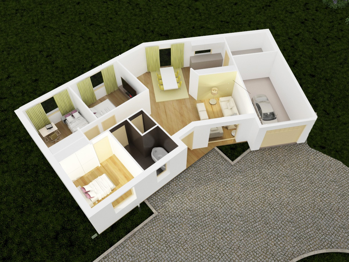 Plans 3d interieurs maison design 96 en v