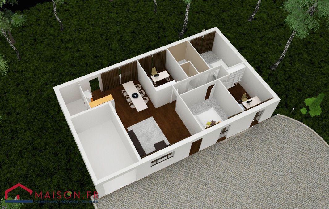 Maison focus 91m2 modele 4 chambres petit prix for Homecourt code postal