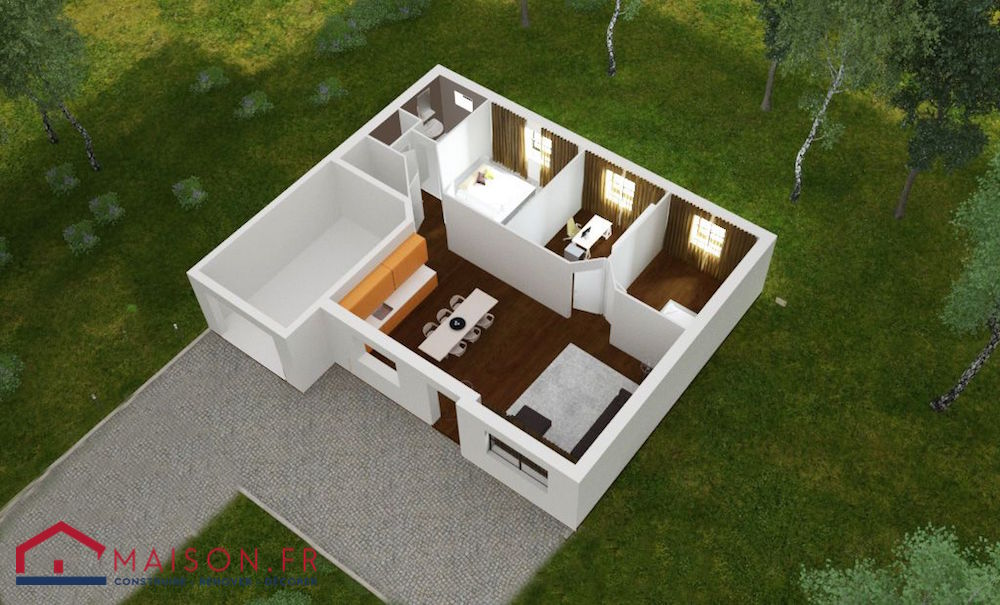 Maison focus 75 modele low cost 100 bbc rt2012 for Code postal homecourt