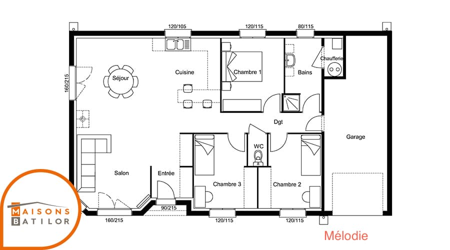 plan de maison 8 x 12