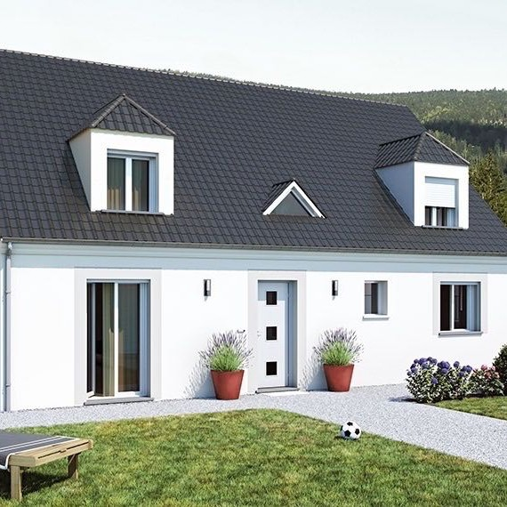 Finest briere grande maison accessible with maison plain for Modele de villa a construire