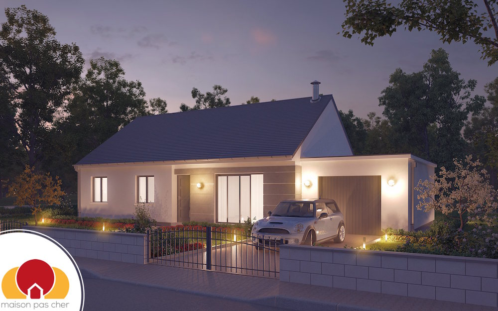 Maison de plain pied avec combles am nageables for Construction maison pas cher