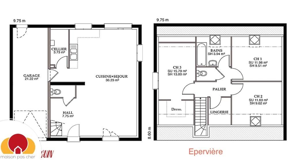 D co construction maison prix au m2 12 caen m2 for Prix construction m2 2015