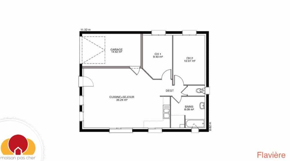 Notre plus petite maison for Plan petite maison 3 chambres