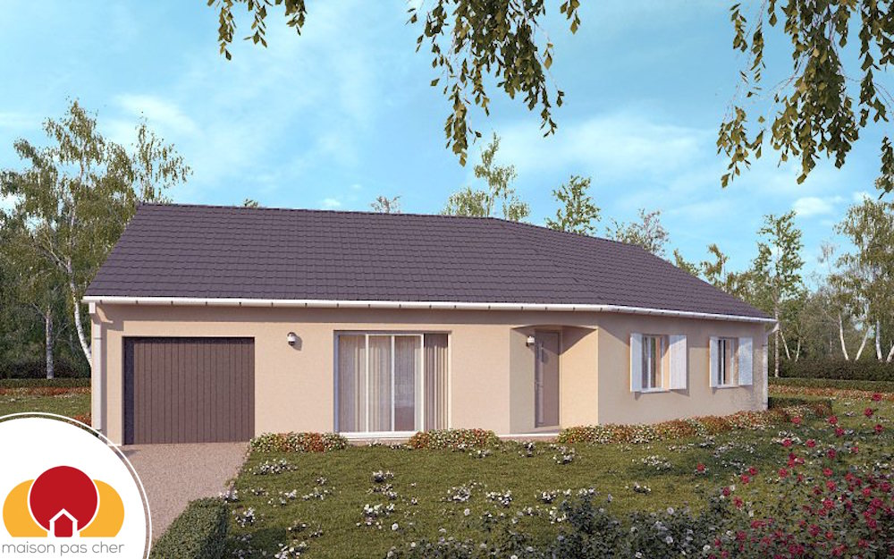 Maison focus 75 modele low cost 100 bbc rt2012 for Plan de maison pas cher