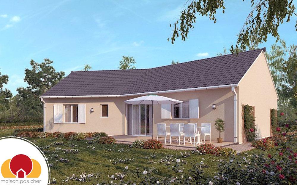Gallery of maison avec plan en v with plan maison pas cher for Terrain plus maison pas cher