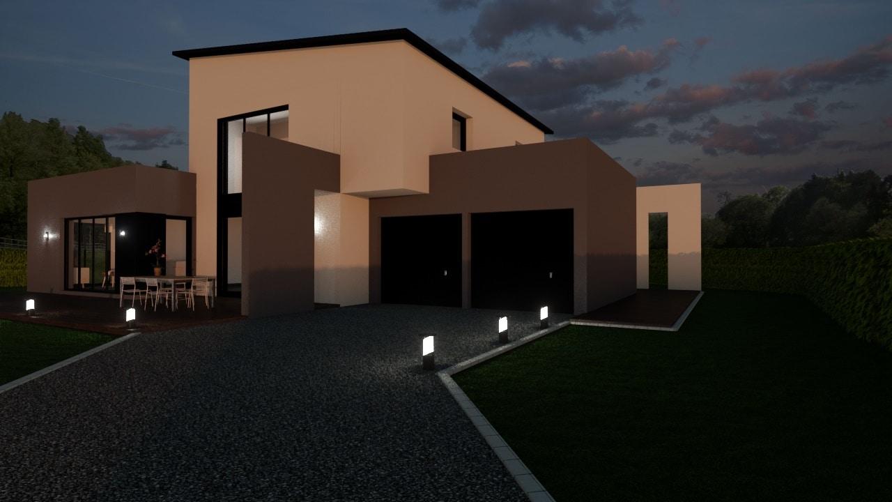 projet en tude d une construction contemporaine construire sa maison pas cher constructeur. Black Bedroom Furniture Sets. Home Design Ideas