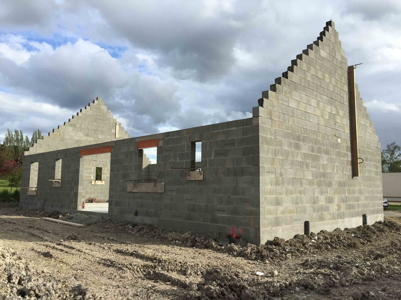 Projet en cours de construction sur chinon suite for Projet de construction de maison