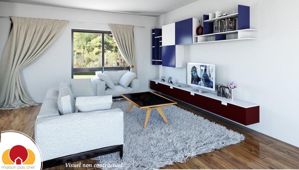 Excellent awesome apercu du modele maison design en v with for Modele de maison a construire pas cher